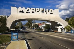 Arch in the main entrance to Marbella (Costa del Sol), Spain